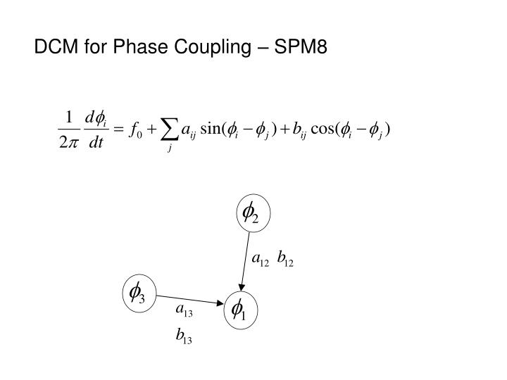 DCM for Phase Coupling – SPM8
