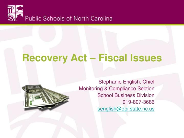 recovery act fiscal issues n.
