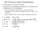 ns protocol with timestamps