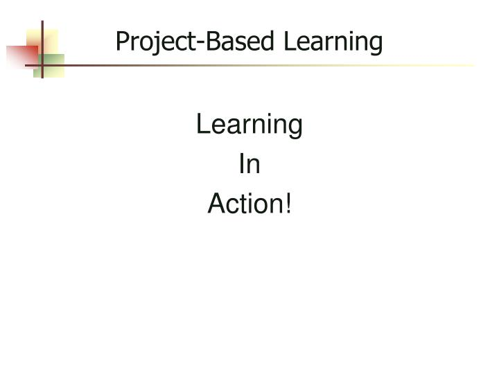 project based learning n.