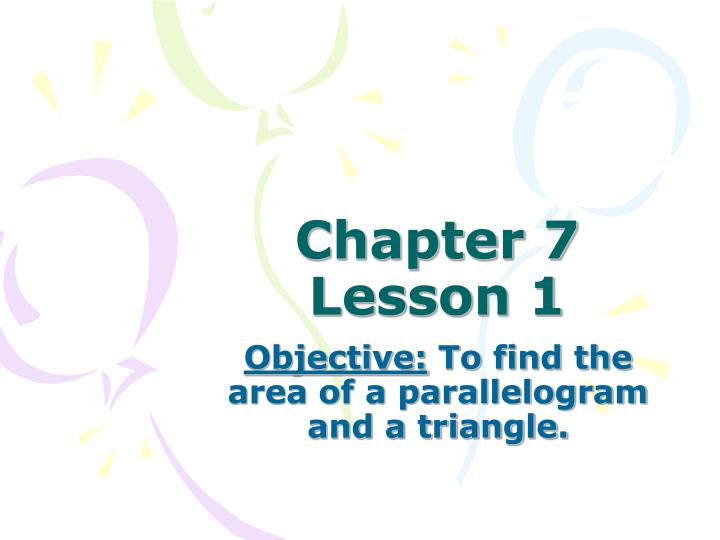 chapter 7 lesson 1 n.