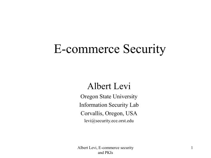 e commerce security n.