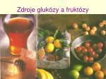 zdroje gluk zy a frukt zy