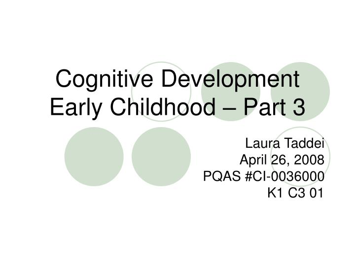 cognitive development in early childhood pdf
