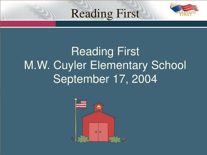 reading first n.