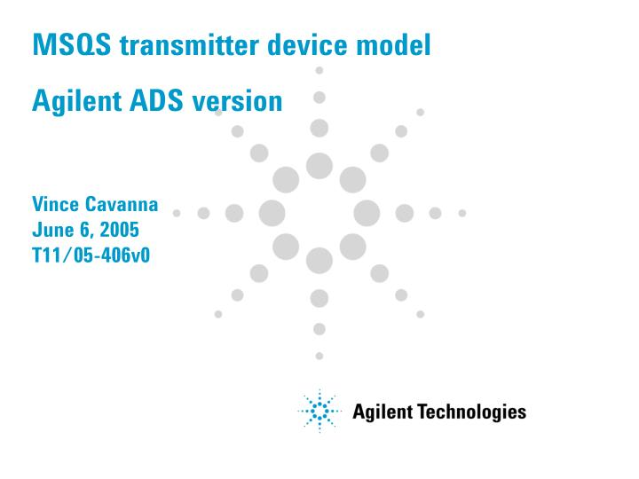 msqs transmitter device model agilent ads version n.
