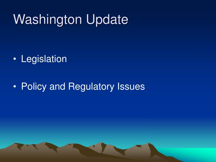washington update n.