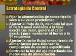 estrategia de control
