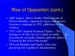 rise of opposition cont