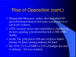 rise of opposition cont2