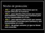 niveles de protecci n