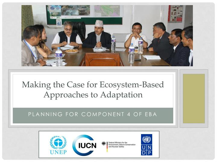 making the case for ecosystem based approaches to adaptation n.