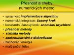 p esnost a chyby numerick ch metod