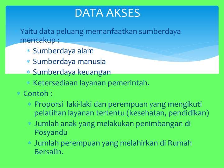 DATA AKSES