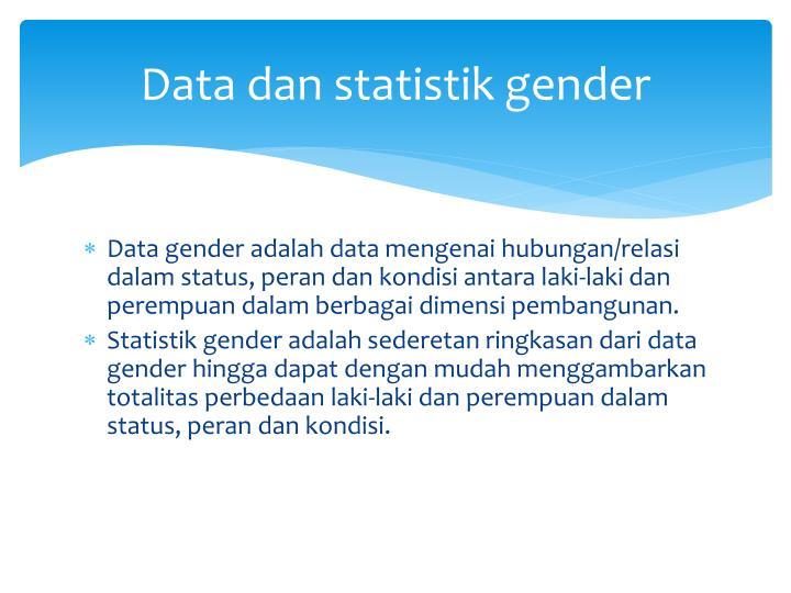 Data dan statistik gender