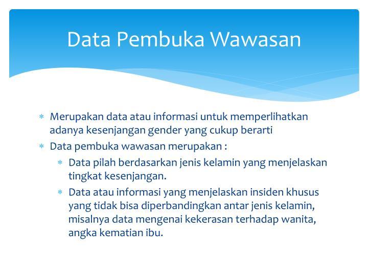 Data Pembuka Wawasan