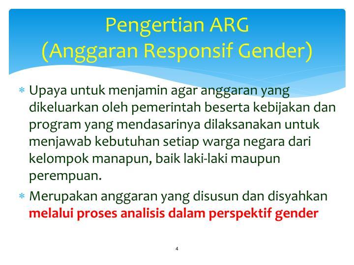 Pengertian ARG