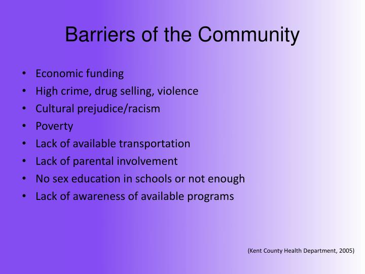 Barriers of the Community