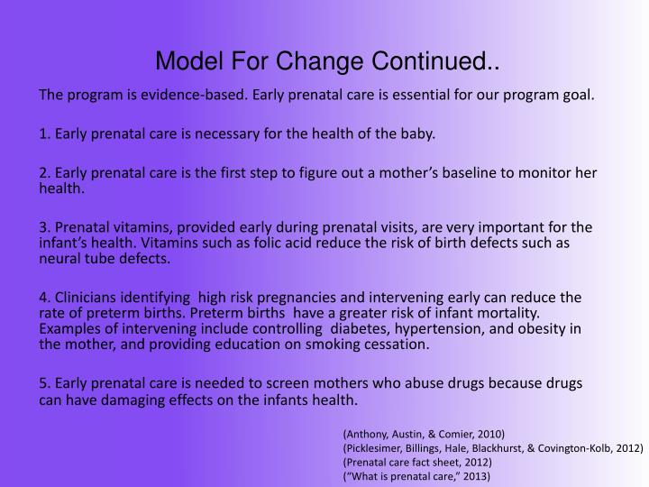 Model For Change Continued..