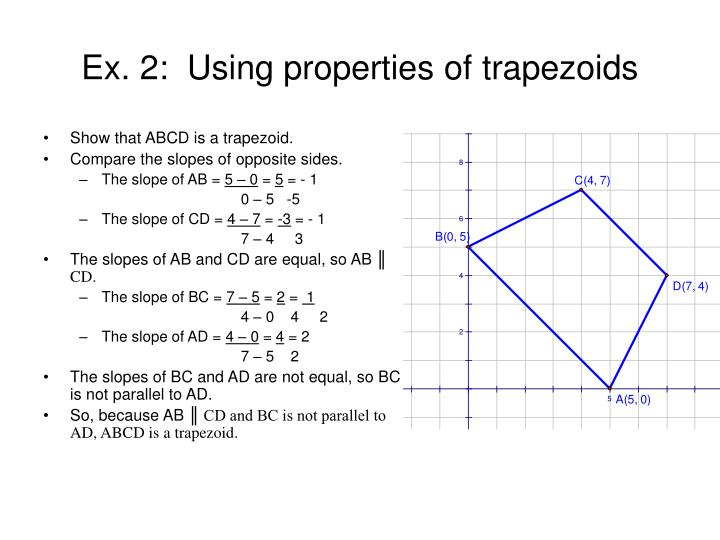 Show that ABCD is a trapezoid.