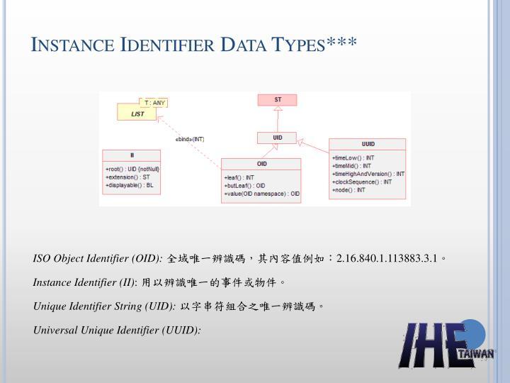 Instance Identifier Data Types
