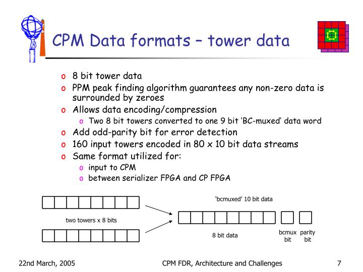 CPM Data formats – tower data