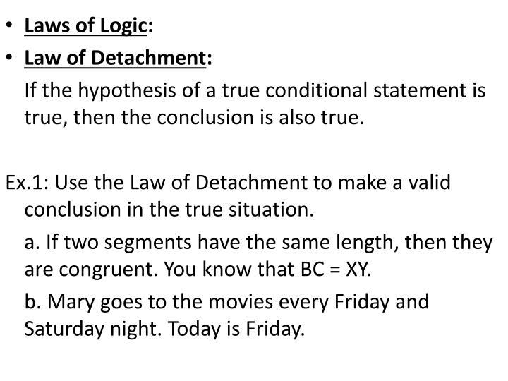 Laws of Logic