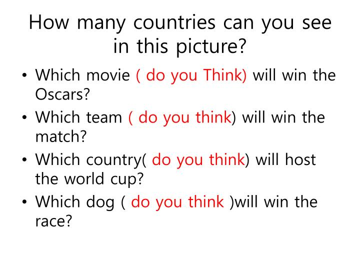 how many countries can you see in this picture n.