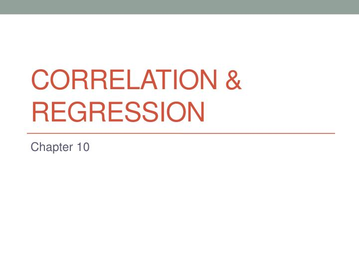 correlation regression n.
