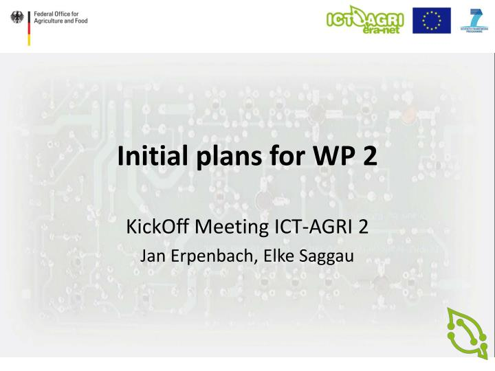 initial plans for wp 2