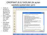 cropwat 8 0 yazilimi ilk a lan sayfada a klamalar yeni
