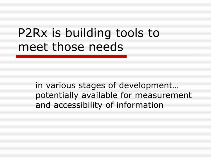 P2rx is building tools to meet those needs