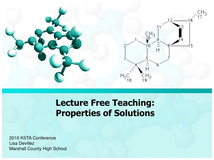 lecture free teaching properties of solutions n.