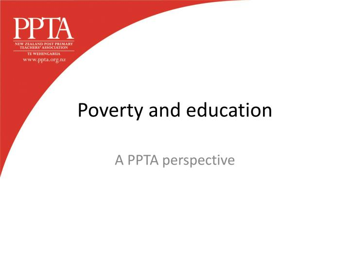 poverty and education n.