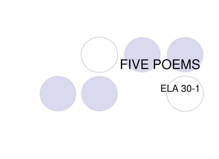 five poems n.
