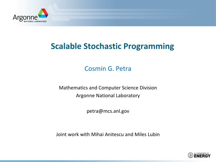 scalable stochastic programming n.