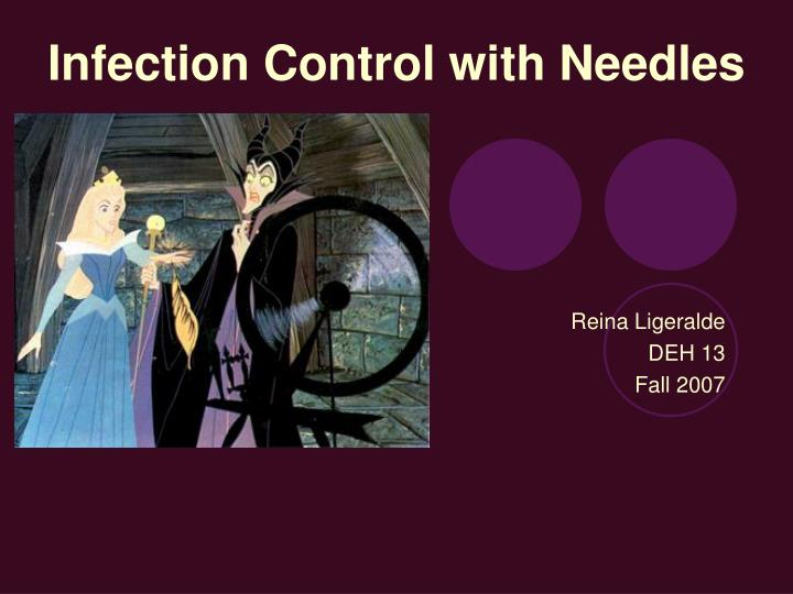 infection control with needles n.