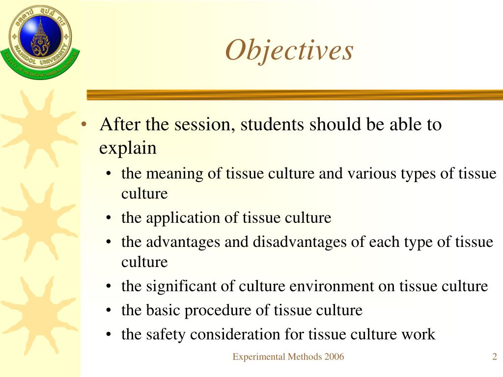 PPT - Introduction to Tissue culture PowerPoint Presentation