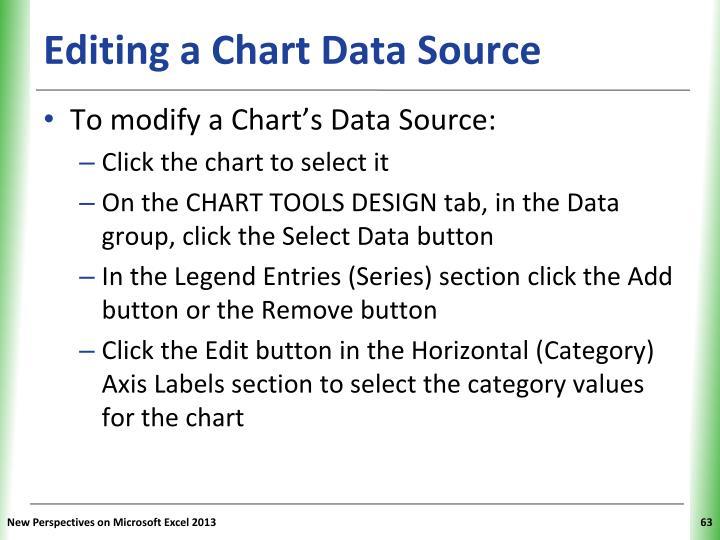 Editing a Chart Data Source