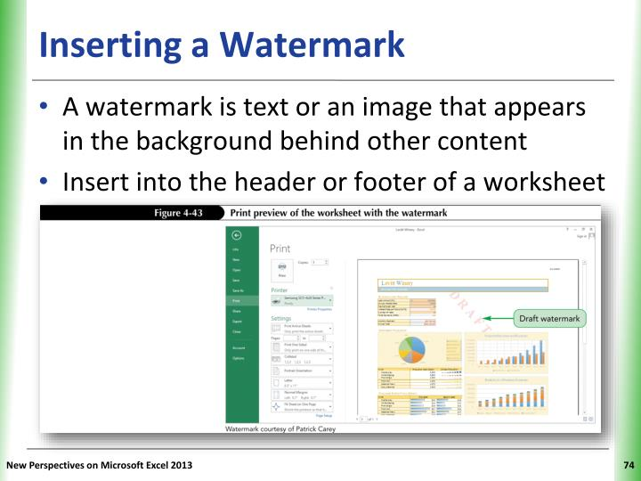 Inserting a Watermark
