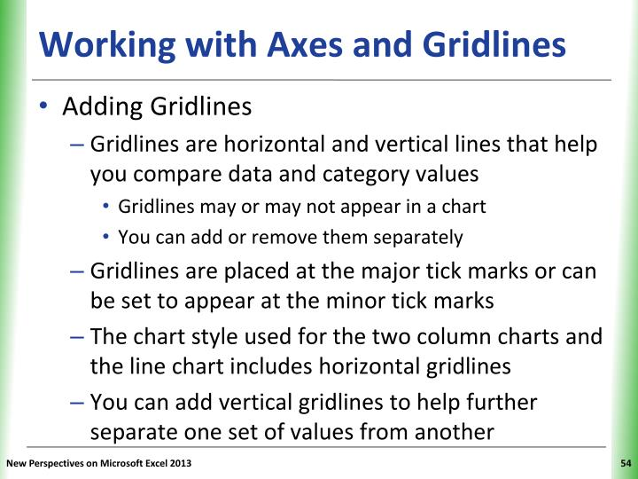 Working with Axes and Gridlines