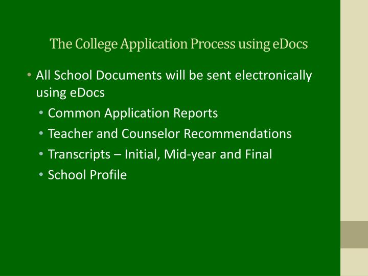 The College Application Process using