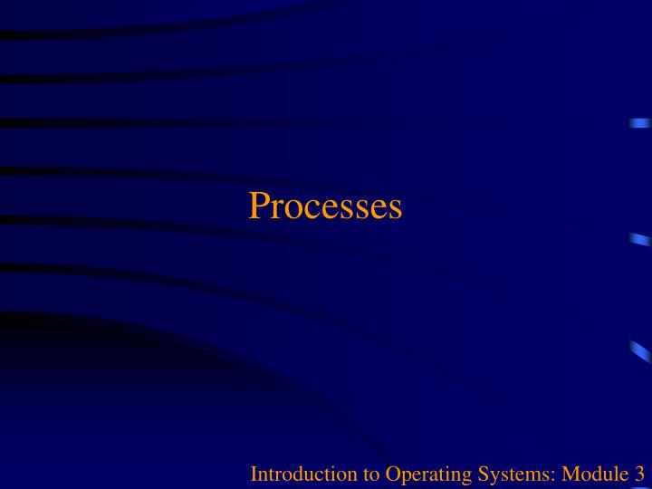 introduction to operating systems module 3 n.