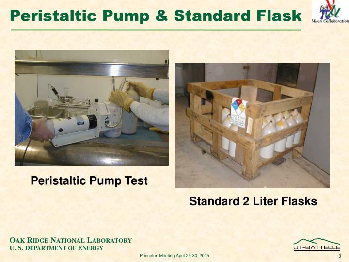 Peristaltic pump standard flask