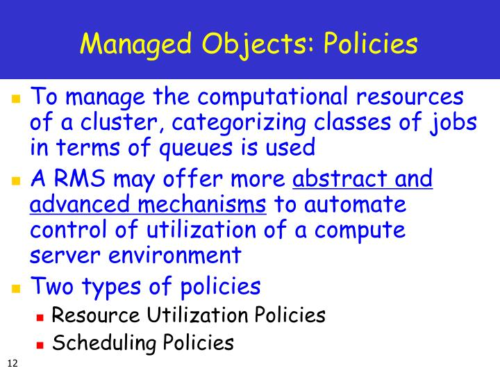 Managed Objects: Policies