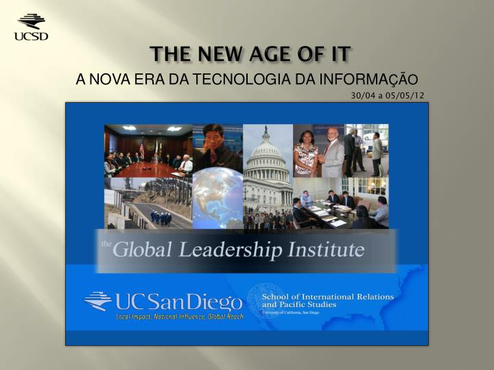 the new age of it n.