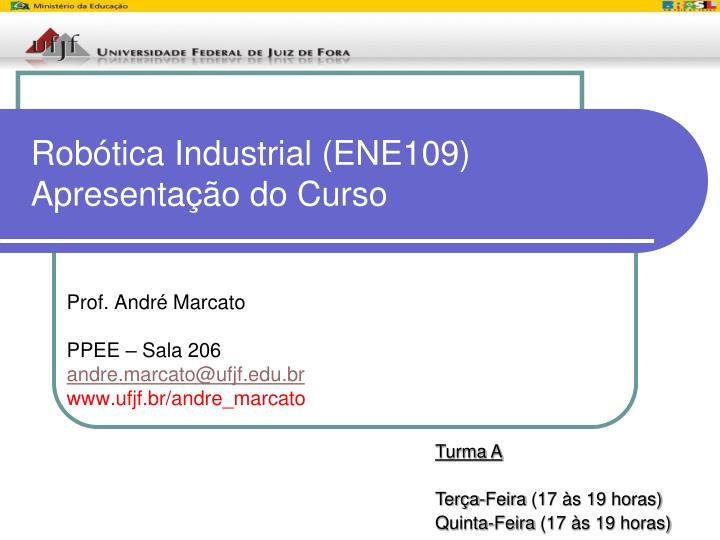 rob tica industrial ene109 apresenta o do curso n.