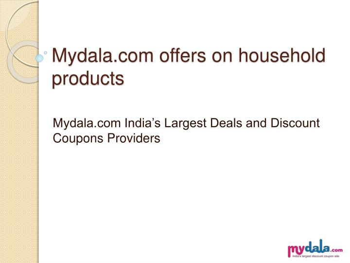 mydala com offers on household products n.