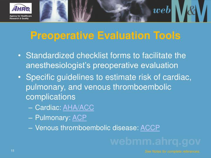 Preoperative Evaluation Tools