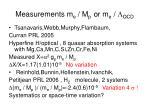 measurements m e m p or m e l qcd